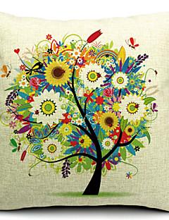 algodão árvore floral / linho fronha decorativo