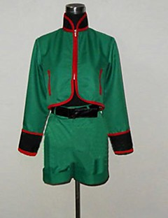 Inspired by Hunter X Hunter Gon. Freecss Anime Cosplay Costumes Cosplay Suits Patchwork Green Long Sleeve Top / Pants / Belt