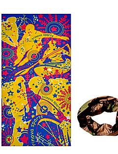 KORAMAN Summer Extreme Sports Yellow Purple Cycling Sun-Proof Magic Scarf Headband