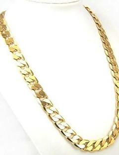 Pánské Dámské Řetízky Circle Shape Pozlacené Módní Přizpůsobeno Klasický bižuterie Šperky Pro Denní Ležérní Sport Vánoční dárky