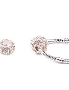 Bijela Pandora trava DIY perle rupa u Ogrlica i narukvica
