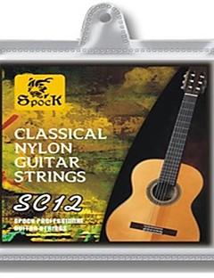 SC12 с серебряным покрытием с нейлоновыми струнами классической гитаре