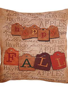 Pays Automne heureux coton / lin coussin décoratif couverture