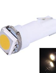 0.25W T5 14LM 1x5050SMD LED luce bianca calda per l'automobile Indicare Dashboard Larghezza Lampade (12V 1Pcs DC)