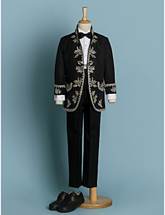 Polyester Ring Bearer Suit - 4 Pieces Includes  Jacket / Shirt / Pants / Bow Tie