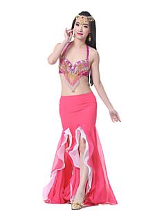 Jupes(Noire / Fuchsia / Bleu léger / Rose / Violet / Rouge / Bleu Royal / Blanc / Jaune,Mousseline,Danse du ventre)Danse du ventre- pour