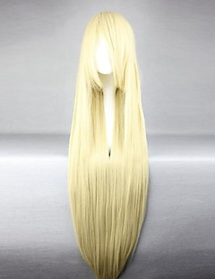 Cosplay Wigs Chobits Chii Golden Long Anime Cosplay Wigs 100 CM Heat Resistant Fiber Female