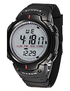 Pánské Sportovní hodinky Náramkové hodinky LED LCD Kalendář Chronograf Voděodolné poplach Stopky Digitální Pryž Kapela Cool Černá