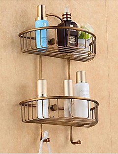 Antique Bronze  Wall Mounted  Double Shower Baskets
