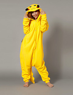 Magic Pikachu Yellow Polar Fleece Kigurumi Pajamas Cartoon Sleepwear Animal Halloween Costume