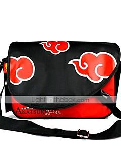 תיק קיבל השראה מ Naruto Naruto Uzumaki אנימה אביזרי קוספליי תיק / תרמיל שחור / אדום PVC זכר / נקבה