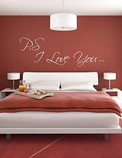 jiubai ™ jeg elsker dig citerer kunst væg sticker wallstickers