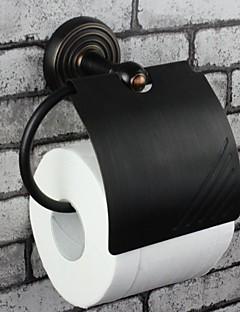 antik olie gnides bronze væghængt toilet roll keep
