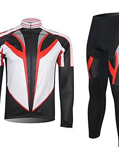 XINTOWN® חולצה וטייץ לרכיבה לגברים שרוול ארוך אופנייםנושם / שמור על חום הגוף / ייבוש מהיר / חדירות ללחות / דחיסה / חומרים קלים / תומך