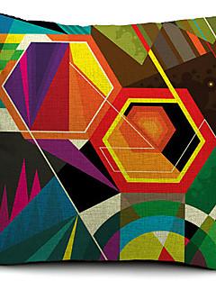 coloré géométrique coton polygone / lin taie d'oreiller décoratif