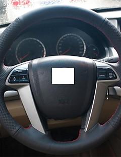 Xuji ™ cubierta de la rueda de dirección de cuero negro genuino para honda accord 8 2008-2013 acuerdo
