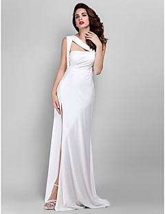TS Couture® Formal Evening / Prom / Military Ball Dress - Ivory Plus Sizes / Petite Sheath/Column Straps Floor-length Jersey