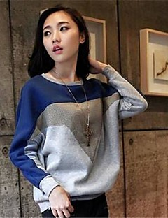 Women's Round Collar Casual Batwing Sleeve Loose Hoodie