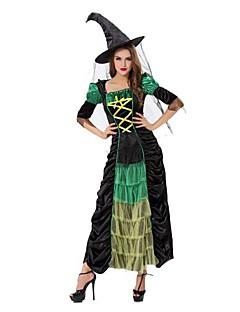 תחפושת ליל כל הקדושים של האישה מבוגרת שחור מכשפה מקסימה