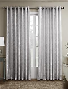 2パネル ウィンドウトリートメント 新古典主義 , カーブ ベッドルーム ポリエステル 材料 カーテンドレープ ホームデコレーション For 窓
