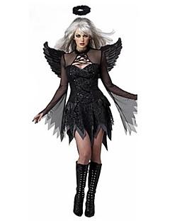 Zentai - Feminino - de Halloween - Anjo e Diabo - Fantasias - Vestido / Peça para Cabeça / Asas