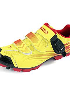 zapatos de bloqueo profesional de ciclismo en bicicleta mountian mtb atlético de los hombres Santic - amarillo + rojo
