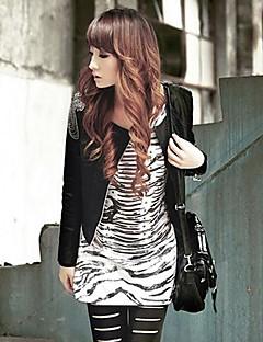 női divat bőr bojt vékony dzseki felsőruházat
