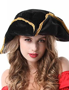 Black Triangle Caribbean Pirates Woman's Halloween Party Hat