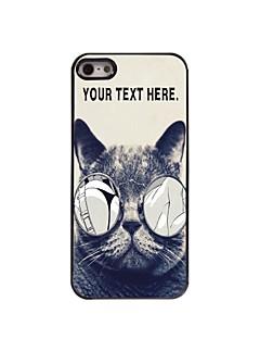 iphone 5 / 5s için kişiselleştirilmiş durumda çapkın kedi tasarım metal kasa