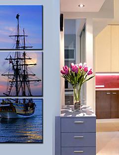 3海セットでキャンバスアート風景船
