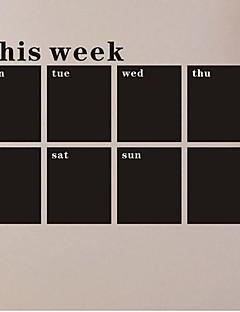 Wall Stickers Vægoverføringsbilleder, uge tavle kridttavle pvc wall stickers