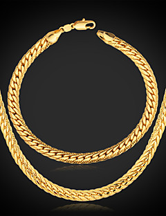 Schmuck Halsketten / Armband Halskette / Armband Geburtstag / Verlobung / Party / Alltag / Normal Aleación / Platiert / vergoldet 1 Set
