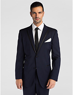 (Premium) Dark Blue Wool Tailored Fit Two-Piece Tuxedo