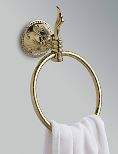"Towel Ring Ti-PVD Wall Mounted 210 x 185 x 80mm (8.26 x 7.28 x 3.14"") Brass Antique"