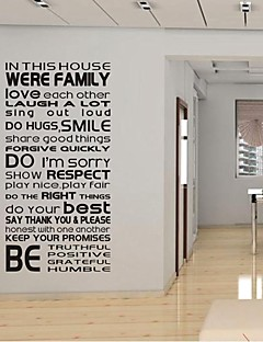 Wall Stickers Wall Decals, Family in This House PVC Wall Stickers