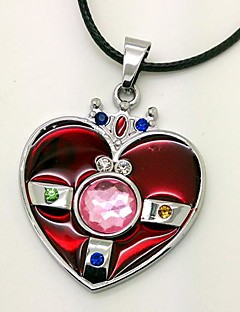 Jewelry Inspired by Sailor Moon Cosplay Anime Cosplay Accessories Necklace Red Alloy / PU Leather Female