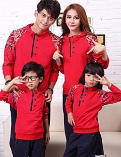 moda pais do vintage crianças da família encapuzados dois conjuntos de roupas esportivas peça