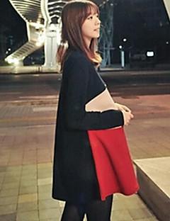Maternity's Fashion Three Color Stitching Long Sleeve Dress