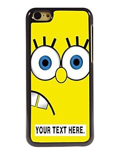 아이폰 5C에 대한 개인의 경우 만화 노란색 디자인 금속 케이스