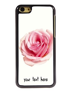 Personalized Case Rose Design Metal Case for iPhone 5C