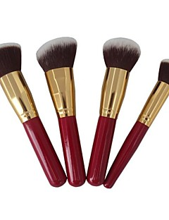 4 Makeup Brushes Set Synthetic Hair Face / Lip / Eye Sedona