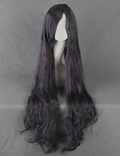 Corpse Demon Shiki Kirishiki Sunako Long Curly Black Gray Cosplay Wig