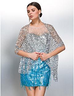 prachtige pailletten bruiloft / avond wraps / shawls (meer kleuren) bolero schouderophalen