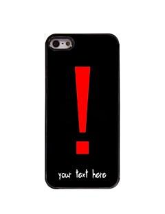caso exclamação caso de design ponto de metal personalizado para iPhone 5 / 5s