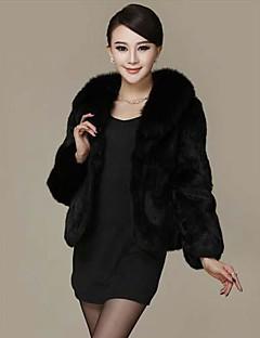 abrigos de piel chaqueta de la manera delgada de la piel de las mujeres chaqueta de piel (más colores)