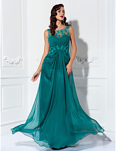 Formal Evening / Prom / Military Ball Dress - Jade Plus Sizes / Petite Sheath/Column Scoop Floor-length Chiffon / Tulle
