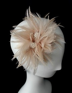 Women's Leather Headpiece-Wedding / Special Occasion Fascinators