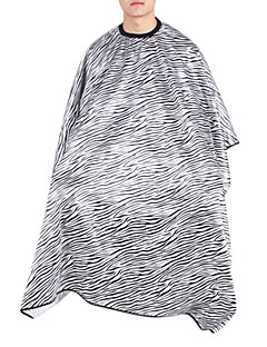 Modern Fashion Black-White Zebra Haircut Cape(1pc)