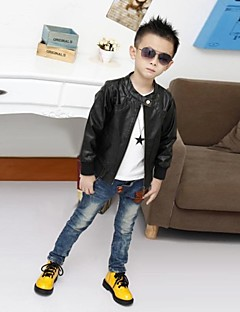 Boy's PU / Cotton Blend Jacket & Coat,Winter / Spring / Fall Solid