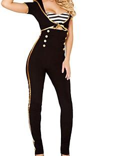 Frauen schwarz navy einheitliche cosplay Kostüm mit weißer Mütze